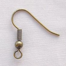 Antique Gold Plated Earhook - 10 Pairs
